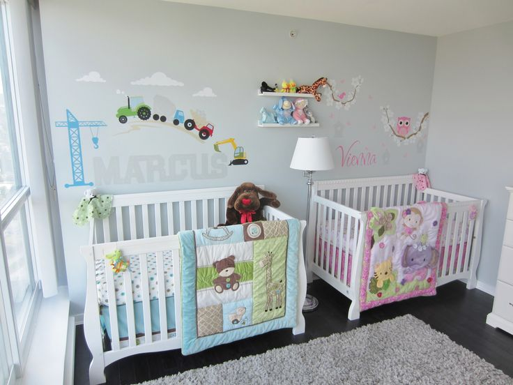 Twins Nursery Boy Girl Ideas Pinterest