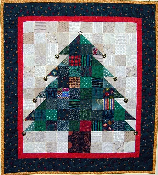 Christmas Tree Quilting Patterns Free : 17 Best images about Crafts for kids on Pinterest Quilt, Black quilt and Jelly rolls