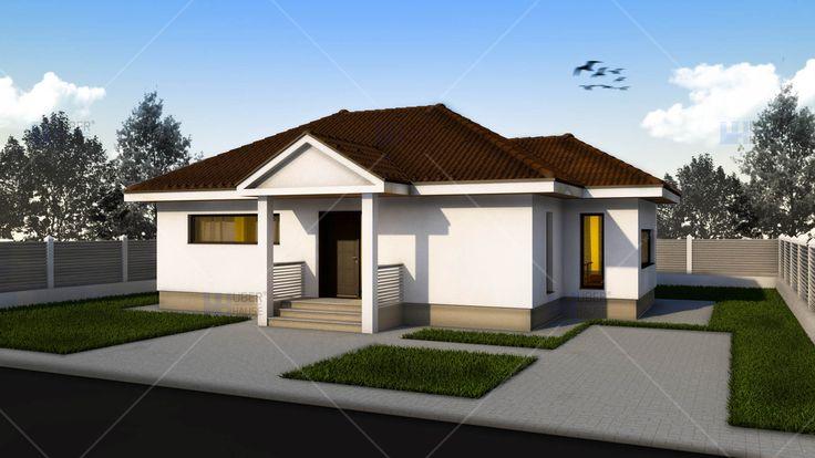 Proiect casa Parter 77 m2 - Rustica. Mai multe detalii gasiti aici: https://www.uberhause.ro/proiect-casa-parter-77-m2-rustica
