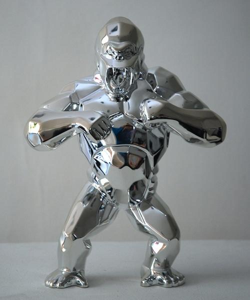 sculpture silver wild kong argent richard orlinski born wild artaban art richard orlinski. Black Bedroom Furniture Sets. Home Design Ideas