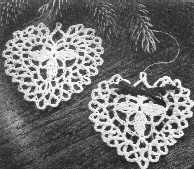 Delicate Crocheted Heart Ornaments ~ free pattern