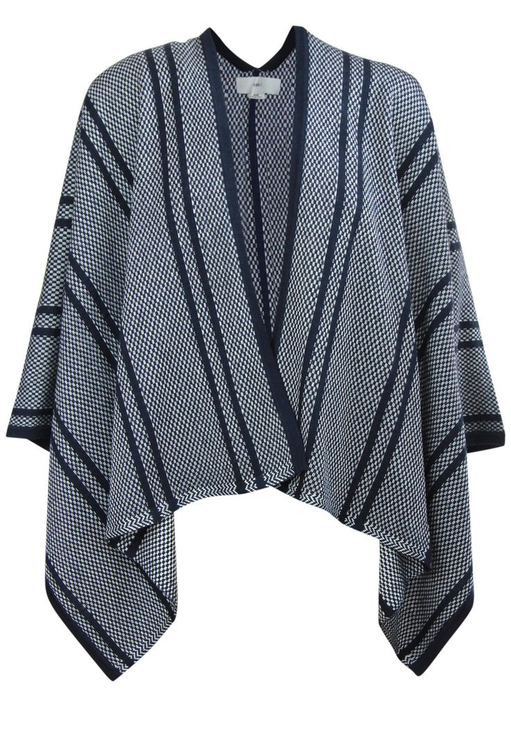 Charli - Wylie Pullover In Navy, White And Jacquard