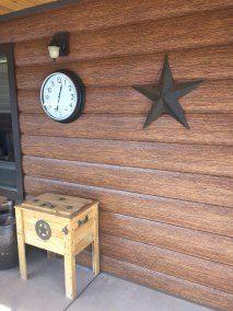 Red Cedar Cabin Siding | Maintenance Free Log Siding | Log Vinyl Siding - TruLog Steel Log Siding