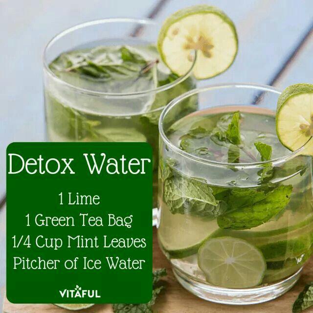Detox Water Green Tea