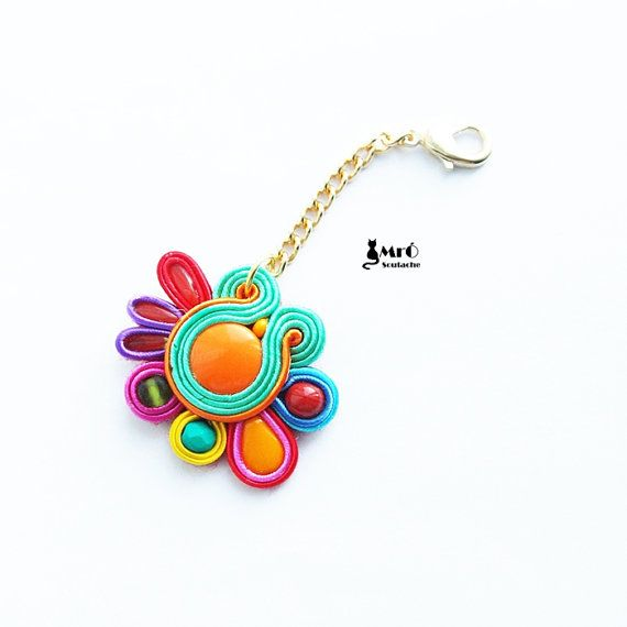 Multicolor keychain- soutache.