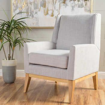 Crosby Fabric Accent Chair, Beige