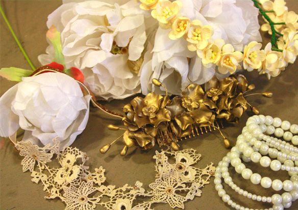 Collares, pulseras, broches, gargantillas, pendientes, anillos para Novias e invitadas. #Complementos hechos a mano. an.hel.o