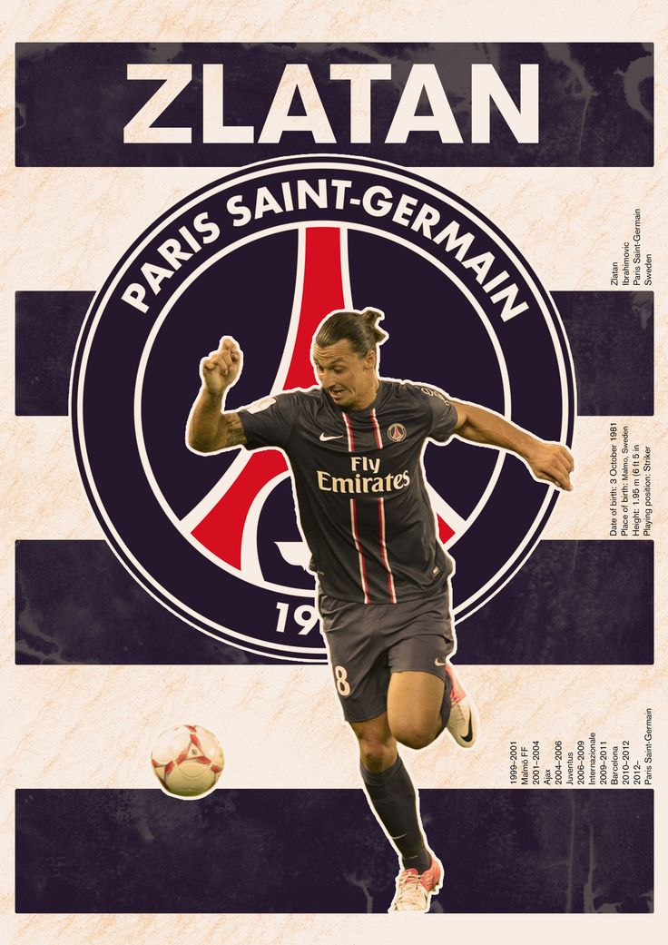 The Zlatan/PSG poster