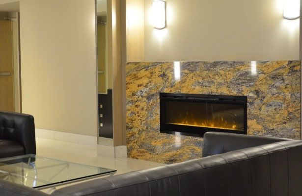 Wall Mount Electric Fireplace, 3-Stage Remote Control & 2-Year Limited Warranty