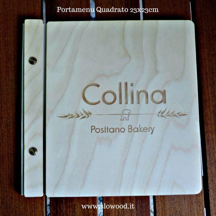Portamenu quadrato in legno di betulla. Dettagli di stile!