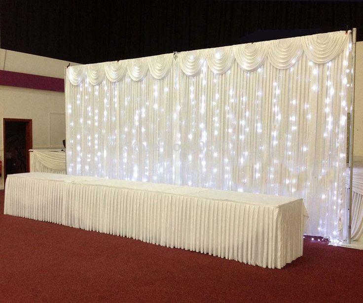 wedding backdrop wedding curtain backdrop wedding drape with led light