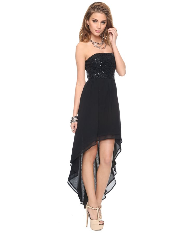 pretty: Simple Black Dress, Forever 21, Highlow Dresses, High Low Dresses, Black Dresses, Bridesmaid Dresses, Lo Dresses, Forever21, Sequins High Low
