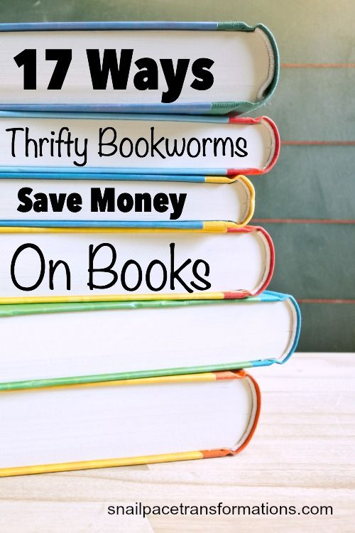 17 Ways Thrifty Bookworms Save Money On Books. All book lovers are going to want to read this one.