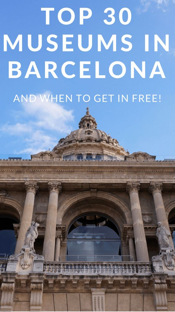 Barcelona is a booming metropolis in the heart of Catalonia renowned for its famous artists and architects. With over 100 museums in Barcelona, there is something for art, science, history and culture lovers. See my list of the 30 top museums in Barcelona (and when it's possible to get in for free).