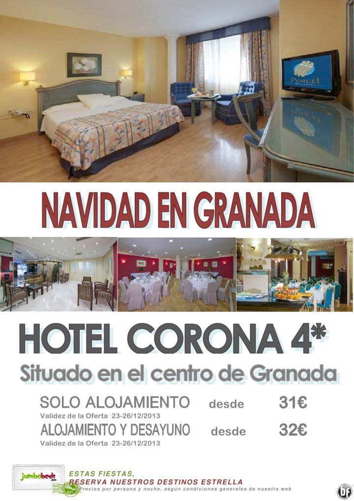 ¡¡Descubre el centro de Granada en Navidad  hotel Corona 4* dsd 31€ pax/día!! ultimo minuto - http://zocotours.com/descubre-el-centro-de-granada-en-navidad-hotel-corona-4-dsd-31e-paxdia-ultimo-minuto/