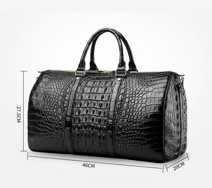 db6c9943af92 Crocodile Leather Travel Weekender Overnight Duffel Bag in 2019 | M ...