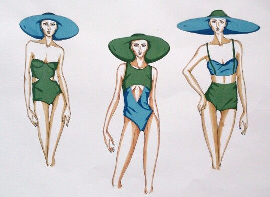 Summer awaiting!! #fashionillustration