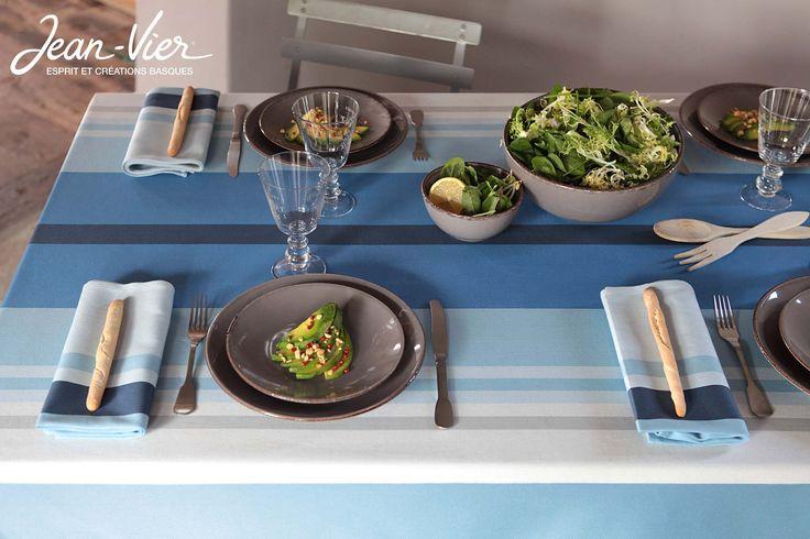 Les 147 meilleures images propos de a table sur pinterest mod les en porc - Nappe basque jean vier ...