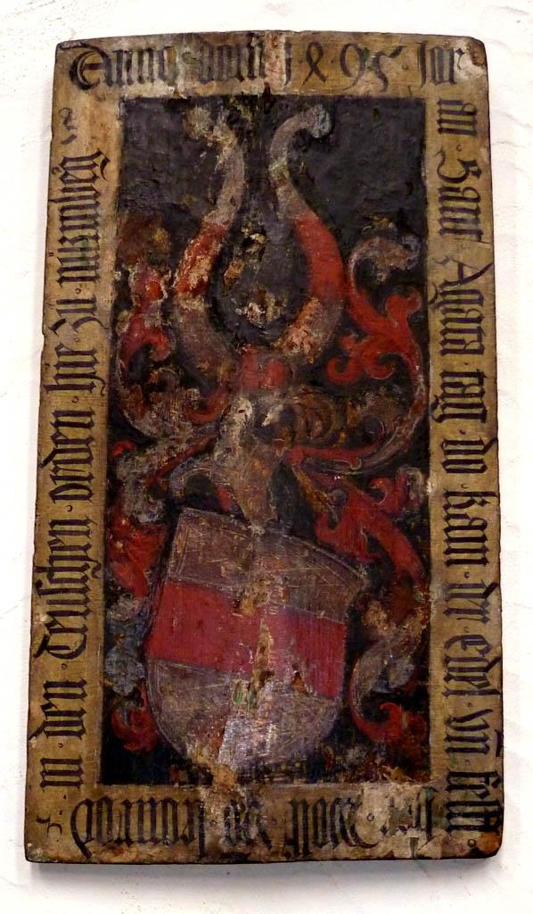 tarcza wotywna upamiętniająca złożenie ślubów zakonnych - Nürnberg, Kirche St. Jakob Aufschwörschild des Deutschen Ordens
