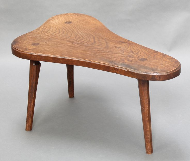 """Lot 1027, Jack Grimble, a bleached elm occasional table raised on chamfered supports 17""""h x 32""""h x 20""""d, the base signed Jack Grimble Cromer 1966 est £80-120"""