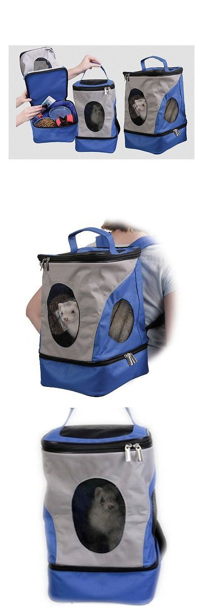 Carriers and Crates 26702: Ferret Backpack Rabbit Chinchilla Travel Bag Small Pet Carrier W Zipper Storage BUY IT NOW ONLY: $59.99