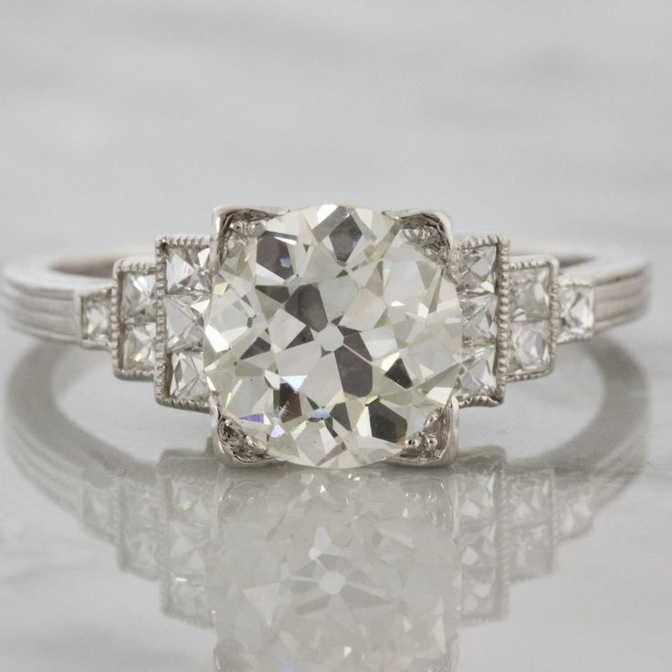 One Of A Kind 1920s Diamond Engagement Ring