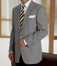 Men's Clearance, Executive 2-Button Silk/Wool Windowpane Check Sportcoat CLEARANCE - Jos A Bank
