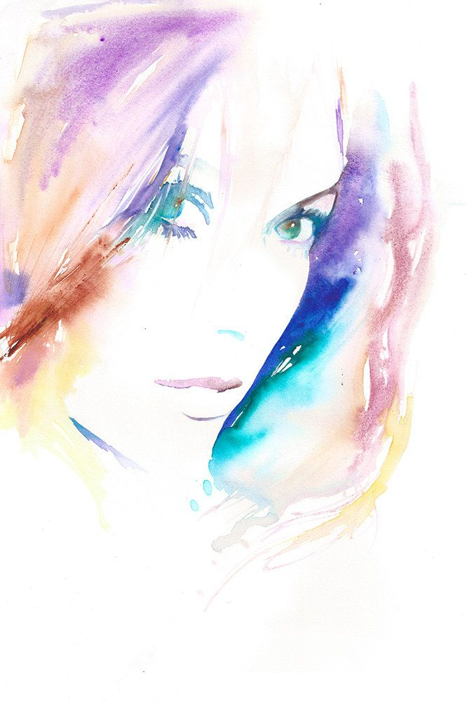 Original Watercolour Fashion Illustration by silverridgestudio