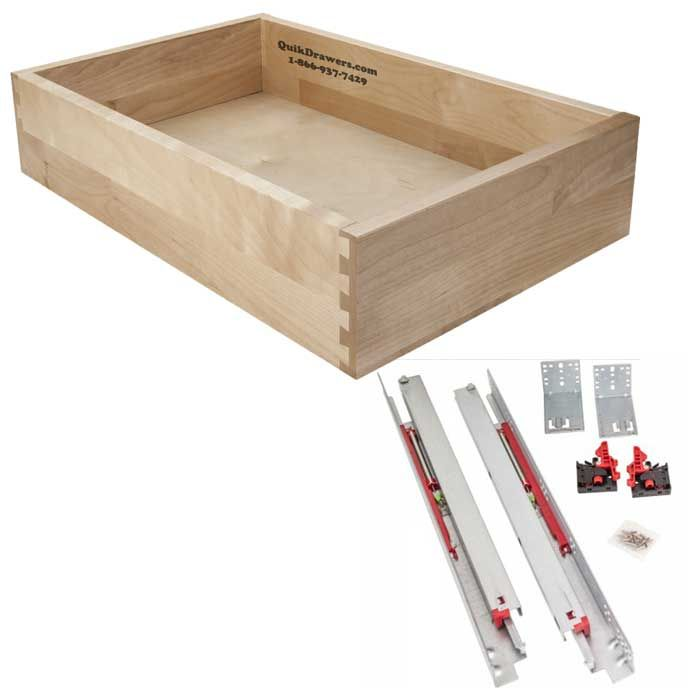 Solid Maple Or Birch Wood Drawer W Vitus Soft Close Concealed Slides Wood Drawers Furniture Grade Plywood Drawer Box