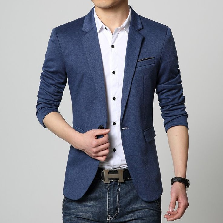 Blazer Masculino Azul Slim Fit Top