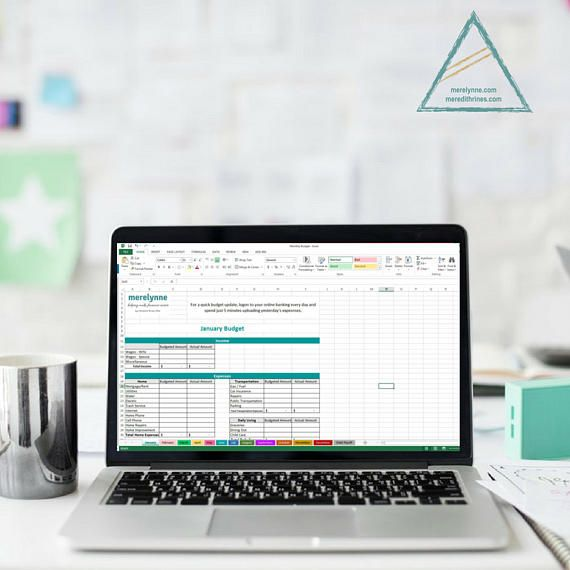 Excel Budget Spreadsheet Expense Tracker Family Budget Template Debt