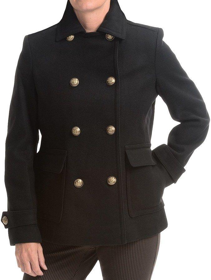 $99, Black Pea Coat: Kristen Blake Double Breasted Wool Coat. Sold by Sierra - Best 20+ Black Pea Coats Ideas On Pinterest Pea Coat, Nautical
