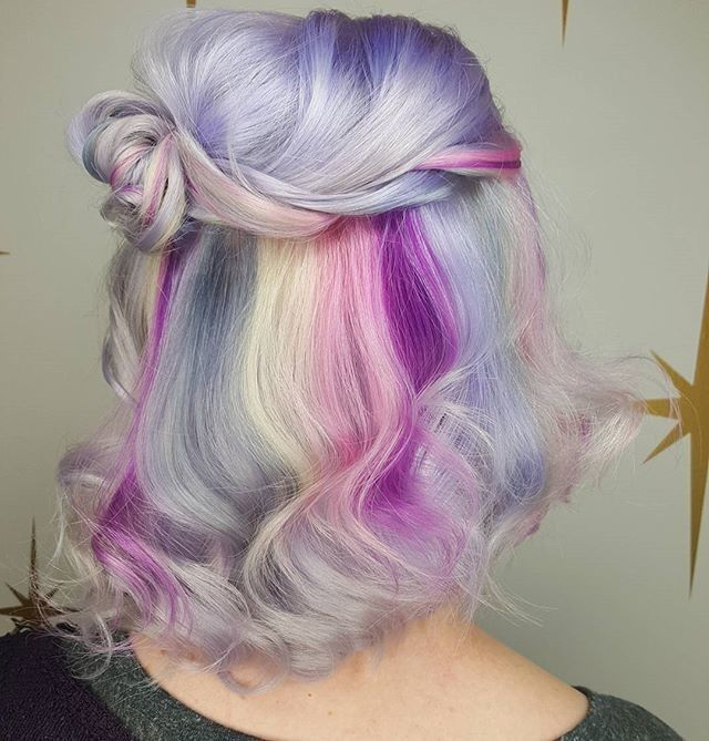 Cotton candy goodness ☁ #hairspiration by @hairbymisskellyo