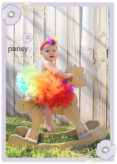 Baby Rainbow Tutu Dress Petti Tutu Rainbow Tutus For Children 9 12 18 Months