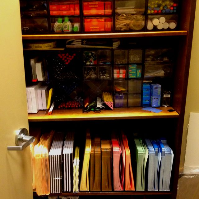 Organized office supply closet at work. Awesome job, @Tanya Wanzer