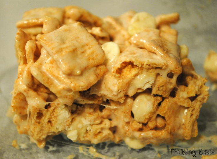 Cinnamon Toast Crunch Crispies with White Chocolate ChipsCinnamon Toast Crunch Baker