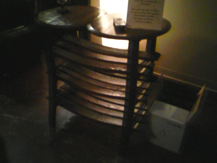 Terrible picture but a wine rack made out of an old cask!: Wine Racks, Terrible Pictures