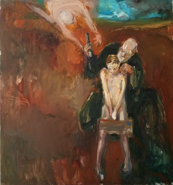 Michał Zaborowski, The sacrifice of Abraham, oil on canvas, 150x140cm.