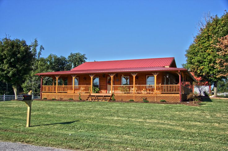 Wrap around porch, tin roof!!! Just almost the exact idea I'm looking for!!!