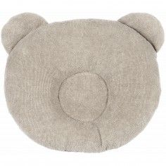 Coussin anti-tête plate P'tit Panda taupe