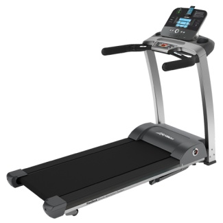 """""""13 Workouts in 1""""    LIFE FITNESS F3 Folding TREADMILL with LIFE FITNESS GO CONSOLE  The Go Console is a simplified choice for those seeking the fundamentals of great workouts. Dramatically lowers energy consumption when the unit is turned on but not in use. Contact hand sensors and wireless telemetry for convenient heart rate monitoring and heart rate controlled workouts.  13 workouts including three Classic, two Advanced, three Goal-based and five HeartSync heart rate controlled workouts."""