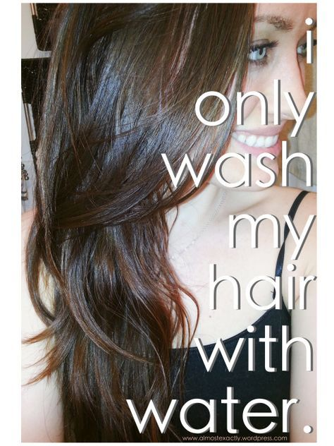 water-only washing for hair