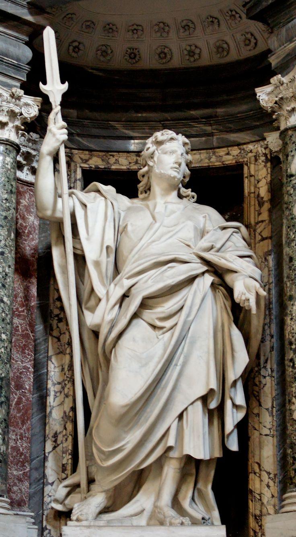 Saint Jude (Judas Thaddeus) by Lorenzo Ottoni (1704-09) in the Archbasilica of St. John Lateran