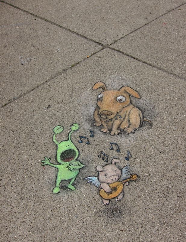 Best David Zinns Street Art Images On Pinterest David - David zinns 3d chalk art adorably creative