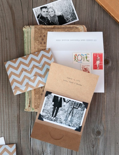 DIY save the date. could also be the wedding invite.
