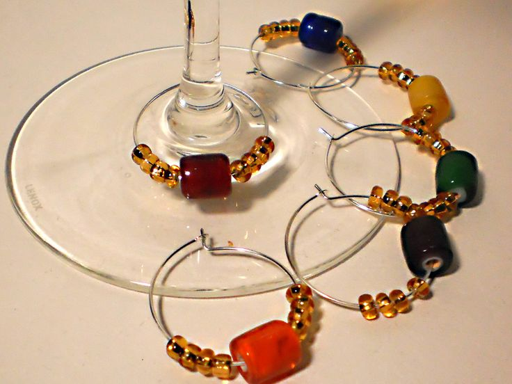 DIY wine glass charm set tutorial.  Easy!  Mother's Day?