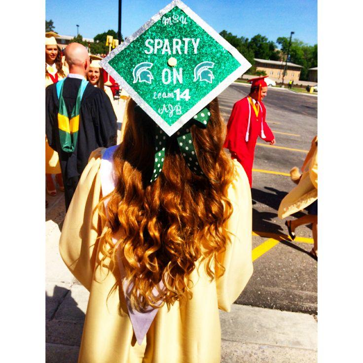 Michigan State graduation cap college?!? Pinterest