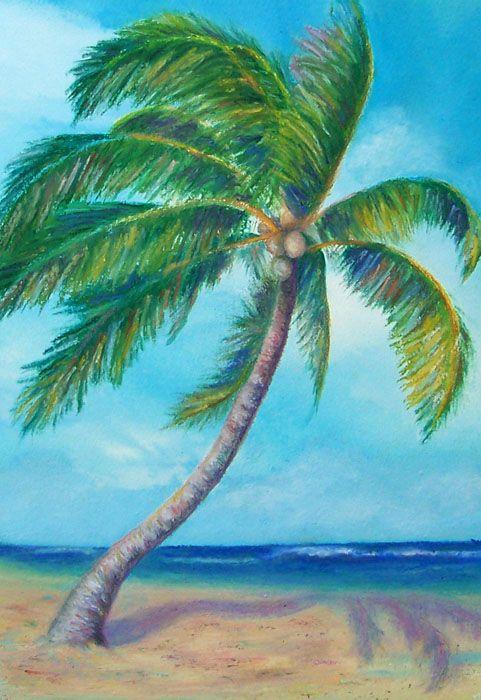 Paintings Of Palmtrees Palm Tree 1 Wetcanvas