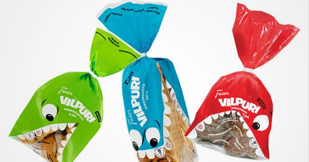 VILPURI GREEN BLUE RED POUCH PACKAGING DESIGN