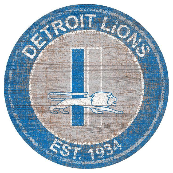NFL Detroit Lions Heritage Logo 24 Round Sign